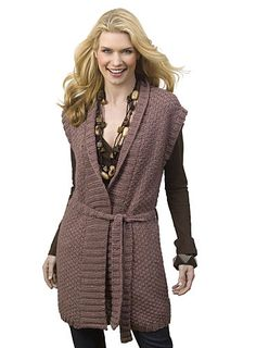 Ravelry: Textured Stitch Tunic Vest by Susan Shildmyer pattern by Susan Shildmyer