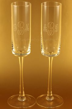 Wedding Champagne Flutes And Serving Sets Personalized And