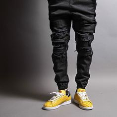 Find More Casual Pants Information about 2016 Publish Max Destructed M 2XL Urban mens designer clothing men hip hop fashion designer skinny black jogger pants ripped jog,High Quality designer mens dress pants,China designer jackets for men Suppliers, Cheap pants black and white from Rich Well on Aliexpress.com