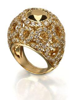 Anillo Carrera Y High Jewelry Art Gemstone Rings Gold