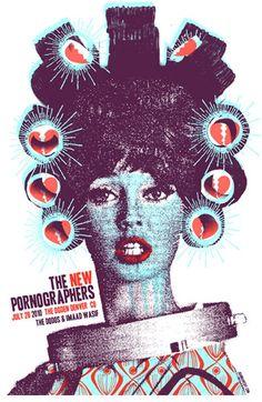 Joanna Wecht: The New Pornographers Gig Poster  http://joannawecht.com