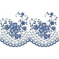 Blue Flower Pattern $6.99  iembroidery.com
