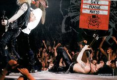 Axl Rose of GNR, Use Your Illusion world tour 1991-93 #axlrose #waxlrose #gunsnroses #gnr #rockicon #rockstar #rockgod #rocknroll #hottestmanalive #bestsinger #livinglegend #sweetchildomine