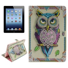 [$5.49] Owl Pattern Leather Case with Holder & Card Slots & Wallet for…
