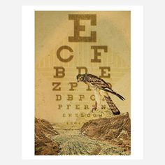 Eye Chart I 11x14, now featured on Fab.