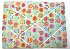 Hand-made Fabric Memo Board by OrganisingChaosShop on Etsy Fabric Memo Boards, Quilts, Unique Jewelry, Handmade Gifts, Shop, Etsy, Vintage, Kid Craft Gifts, Quilt Sets