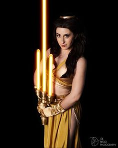 Jedi Belle Has A Better Lightsaber Than Kylo Ren by @elizabethrage  Lumier Lightsaber by @ltoycreations and @jedi_dude_jay  Photo by @gilphotography
