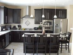 Modern Kitchen with Dark Cabinets