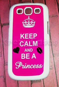 Fancy - Samsung Galaxy S3 Case, Keep Calm And Be A Princess Samsung Galaxy S3 Cover, Samsung Galaxy S3 Cases on Luulla