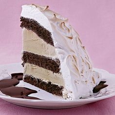 Baked Alaska with Chocolate-Rum Sauce - FineCooking