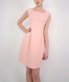 Loving this Powder Cap-Sleeve Dress on #zulily! #zulilyfinds