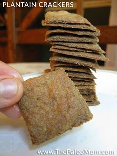 Plantain Crackers (These would sure be easy, but I think I'd want to add a few spices or herbs to them.)
