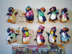 Kinder Surprise Set - Peppy Pingos Party Penguins - Complete Series Vintage…
