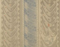 Façade wallpaper for Curwen Press by Edward Bawden (1932-33)