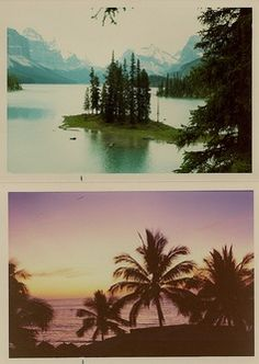 Top pic is from Alaska , bottom pic is from cuba