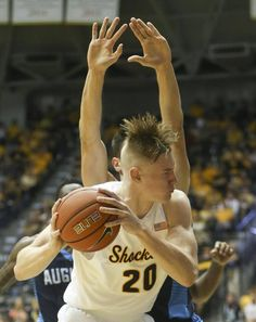 Wichita State's Rauno Nurger tries to get to the basket against Augusta during the second half of their game at Koch Arena on Saturday.