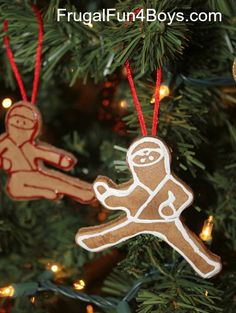 Ninjabread Men! Homemade salt dough ornaments.