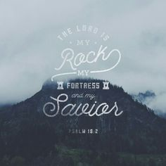 The Lord is my rock and my fortress and my deliverer, my God, my rock, in whom I take refuge, my shield, and the horn of my salvation, my stronghold.  Ps. 18:2 ESV  http://bible.com/59/psa.18.2.ESV