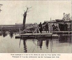 WWI, July 1916, Post at the Yser.
