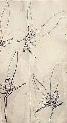 Fairy Drawings, Art Drawings Sketches, Indie Drawings, Tattoo Drawings, Cute Tattoos, Small Tattoos, Body Tattoos, Mini Tattoos, Small Fairy Tattoos