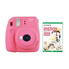 instax Mini 9 Camera with 10 Shots - Flamingo Pink: Amazon.co.uk: Electronics Fuji Instax Mini 8, Instax Mini Camera, Instax Mini Film, Fujifilm Instax Mini 8, Camera Deals, Instant Film Camera, Digital Camera, Shots, Flamingo