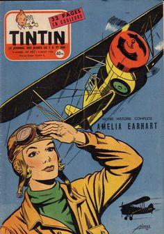 TintinN° 407 - 'Amelia Earhart',August 9, 1956