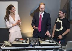 Pin for Later: 33 Reasons to Love Birthday Boy Prince William He's Not Afraid to Try New Things During the royal tour in Australia in April 2014, Prince William hit the turntables, making Kate laugh.