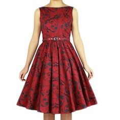 Chic Star Printed Sleeveless Swing Dress| Rockabilly | Pin Up