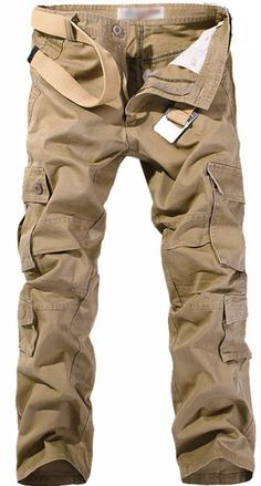 Men's Stylish Straight Multi Pockets Overall Trousers Casual Long Pants/18326 · LSeSell · Online Store Powered by Storenvy