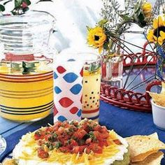 Layered Party Dip...use gf refried beans