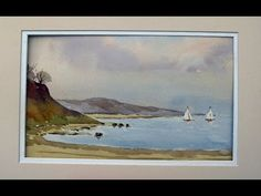 ... how to paint a seascape in watercolour - YouTube