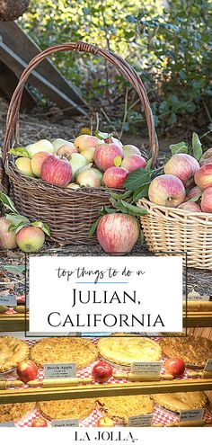 What to do in Julian, California, a perfect day trip from San Diego, including where to eat and drink, camping information, mining tours, hiking, and more. La Jolla Mom Julian California, California With Kids, California Travel, Southern California, Fun Activities To Do, Autumn Activities, Stuff To Do, Things To Do