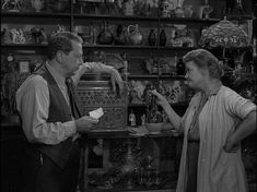 """""""The Man in the Bottle"""" is episode 38 of the American television series The Twilight Zone. It originally aired on October 7, 1960 on CBS. A luckless couple stumbles upon fortune when a genie materializes from a bottle in their antique shop. The genie grants them four wishes but warns them, prophetically, to be careful what you wish for."""