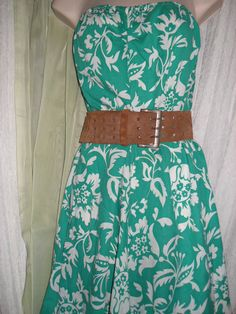 Vintage 70s Cotton Summer Dress Strapless by 3ButterflyKisses4U, $18.00