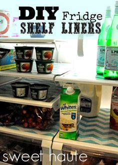 *SWEET HAUTE*: DIY Refrigerator Shelf Liners