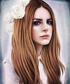 """TOP art oil painting- New York POP star Lana Del Rey  portrait OIL PAINTING 36"""" -100% hand painted --Accept customize art"""