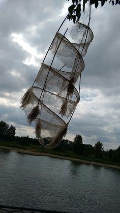 Tijdens ambacht en techniek festival veel mooie dromenvangers langs de IJssel.