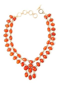 Nello Necklace by Amrita Singh: 18K gold plated brass/resin. On sale $38 #Necklace #Amrita_Singh