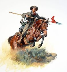 Civil War: Here is a new figure that represents , Company B, 5th Texas Mounted Rifles of General Sibley's (C.S.A.) Army of the Southwest in 1861. Two companies of the 5th were armed with lances and at least Company B took part in a charge at the Battle of Valverde in what is today , New Mexico.