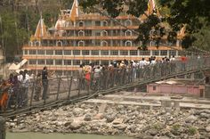 The Laxman Jhula in Haridwar attracts thousand of pilgrims and tourists daily and in peak season...can be one big adventure!