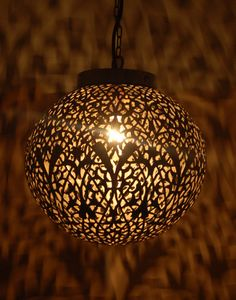 Hanging Moroccan Lamps Art Print   Architecture, Culture and Pendants:Small Circular Nickel Moroccan Ceiling Light,Lighting