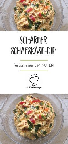 Spicy sheep& cheese dip- Scharfer Schafskäse-Dip Sheep cheese cheese dip – you& never buy more! Because you can do the dip yourself. The creamy spread is very simple, takes only 5 MINUTES and makes every bread to enjoy. Healthy Eating Tips, Healthy Salad Recipes, Dip Recipes, Healthy Nutrition, Meat Recipes, Pasta Recipes, Cooking Recipes, Sheep Cheese, Salsa Picante