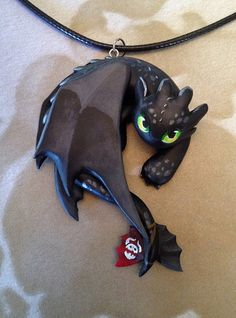 Toothless Necklace - Red Tail Variant