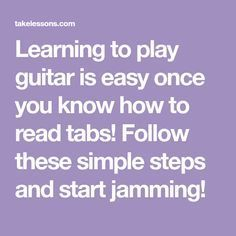 Learning to play guitar is easy once you know how to read tabs! Follow these simple steps and start jamming! Music Sing, Music Guitar, Playing Guitar, Learning Guitar, Guitar Art, Guitar Strumming, Guitar Chords, Acoustic Guitar, Ukulele