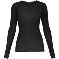 BCBGMAXAZRIA Agda Crewneck Long-Sleeve Tee ($68) ❤ liked on Polyvore featuring tops, shirts, long sleeves, long sleeved shirts, long-sleeve shirt, stretch long sleeve shirt, print top, print shirts and jersey top