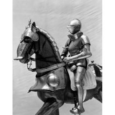 Statue of a Knight riding a horse Canvas Art - (18 x 24)