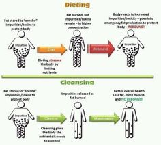 Why juice cleansing is physically different than dieting.