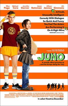 Juno - film by newcomer Diablo Cody. Starring Ellen Page, Michael Cera. Very funny and quixotic.