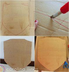 Espada y un escudo hechos en cartón reciclado | #Artividades