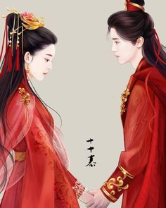 Korean Drama Eng Sub, Asian Artwork, Anime Wedding, Elegant Couple, Japanese Costume, Cartoon Fan, Beautiful Fantasy Art, Adam And Eve, Ancient China
